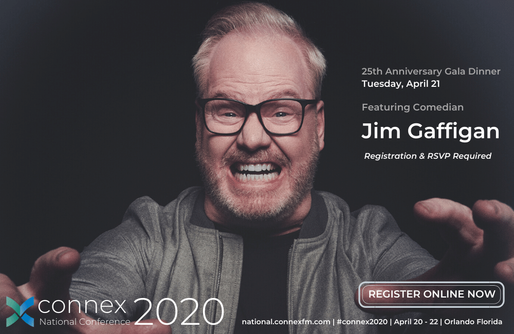 CONNEX2020 PRSM National Conference featuring Jim Gaffigan